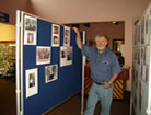 Bobbins and Threads neilston Ian setting up the display